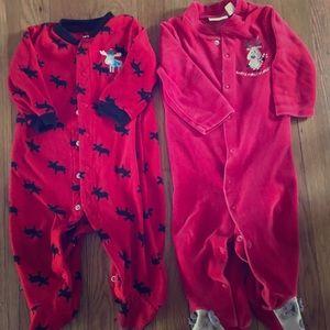 Christmas Pajama bundle 9 months